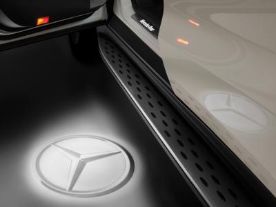 Projecteur à LED, Etoile Mercedes, 2 unités