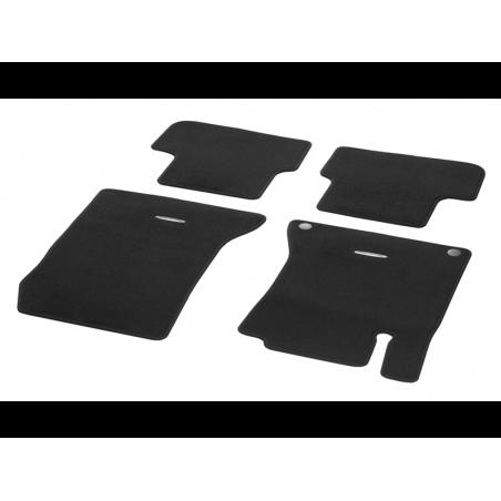 jeu de tapis mercedes classe a b cla et gla noir velours. Black Bedroom Furniture Sets. Home Design Ideas