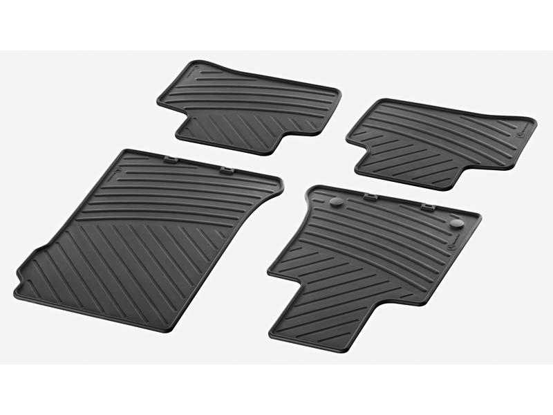 Tapis en caoutchouc résistants CLASSIC, jeu, 4 unités