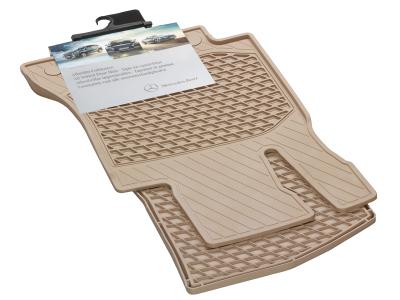 Tapis en caoutchouc résistants CLASSIC, tapis de sol côtés conducteur/ passager, 2 unités