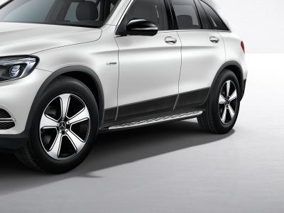 Marchepied pour GLC Mercedes-Benz - Finition aluminium et picots caoutchouc