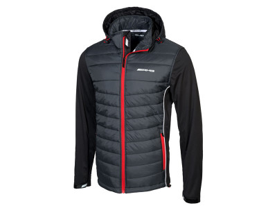 Veste AMG rouge et noir à capuche pour hommes