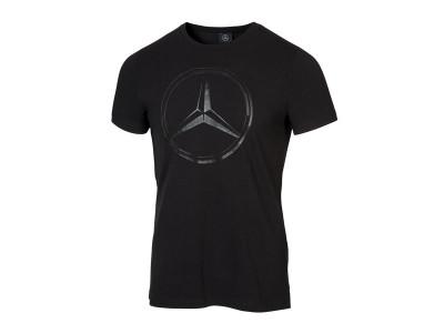 T-shirt Mercedes noir avec logo imprimé