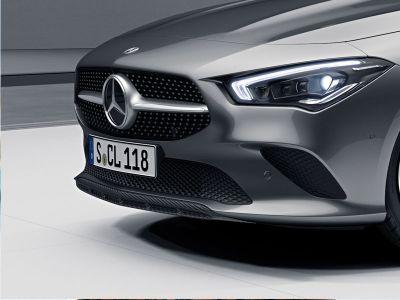 Mini-déflecteur de jupe avant Finition carbone Mercedes Classe A W177