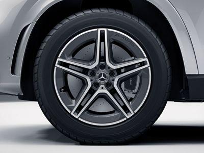 Jante Mercedes GLE W167 AMG - 5 doubles branches - 9 J x 20 pouces ET 57 - Essieu avant