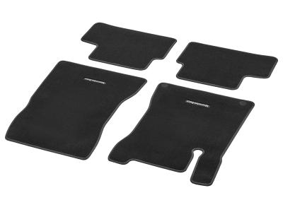 Tapis en velours CLASSIC, jeu, 4 unités, Surpiqûre gris moyen