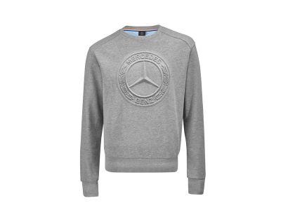 Sweat-shirt Gris Chiné pour Homme Mercedes