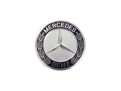 Etoile de capot - Bleu - sigle Mercedes