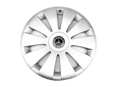 Cache moyeu Mercedes-Benz 75mm - Jante alu - étoile couronne de lauriers - noir - 1 unité