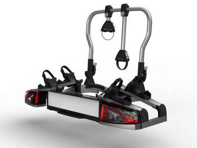 Porte-vélos arrière, pour dispositif d'attelage, rabattable, pour 2 vélos