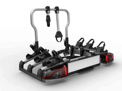 Porte-vélos arrière, pour dispositif d'attelage, rabattable, pour 3 vélos