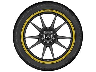 19 pouces - Jante arrière Classe C 205 noir et jaune