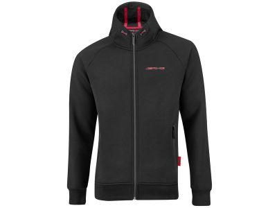 Veste sweat à zip AMG noir et rouge avec capuche réglable