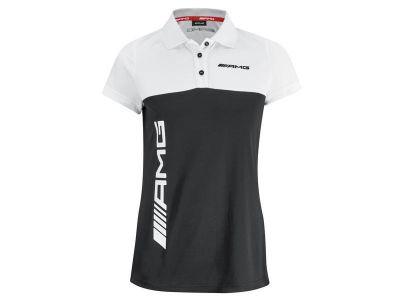 Polo Noir Blanc AMG pour Femme