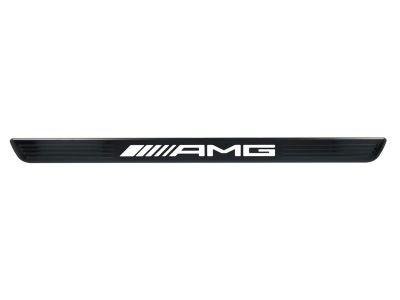 Cache pour baguette de seuil éclairée AMG - Noir - avant - 2 unités