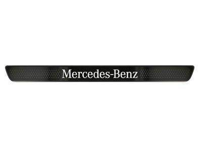 Cache pour baguette de seuil éclairée Mercedes-Benz - Noir - avant - 2 unités