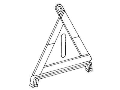 Triangle de signalisation avec son logement pour Classe E
