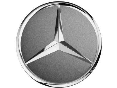 Cache-moyeu - Etoile en relief gris tantale - Mercedes-Benz - 1 unité